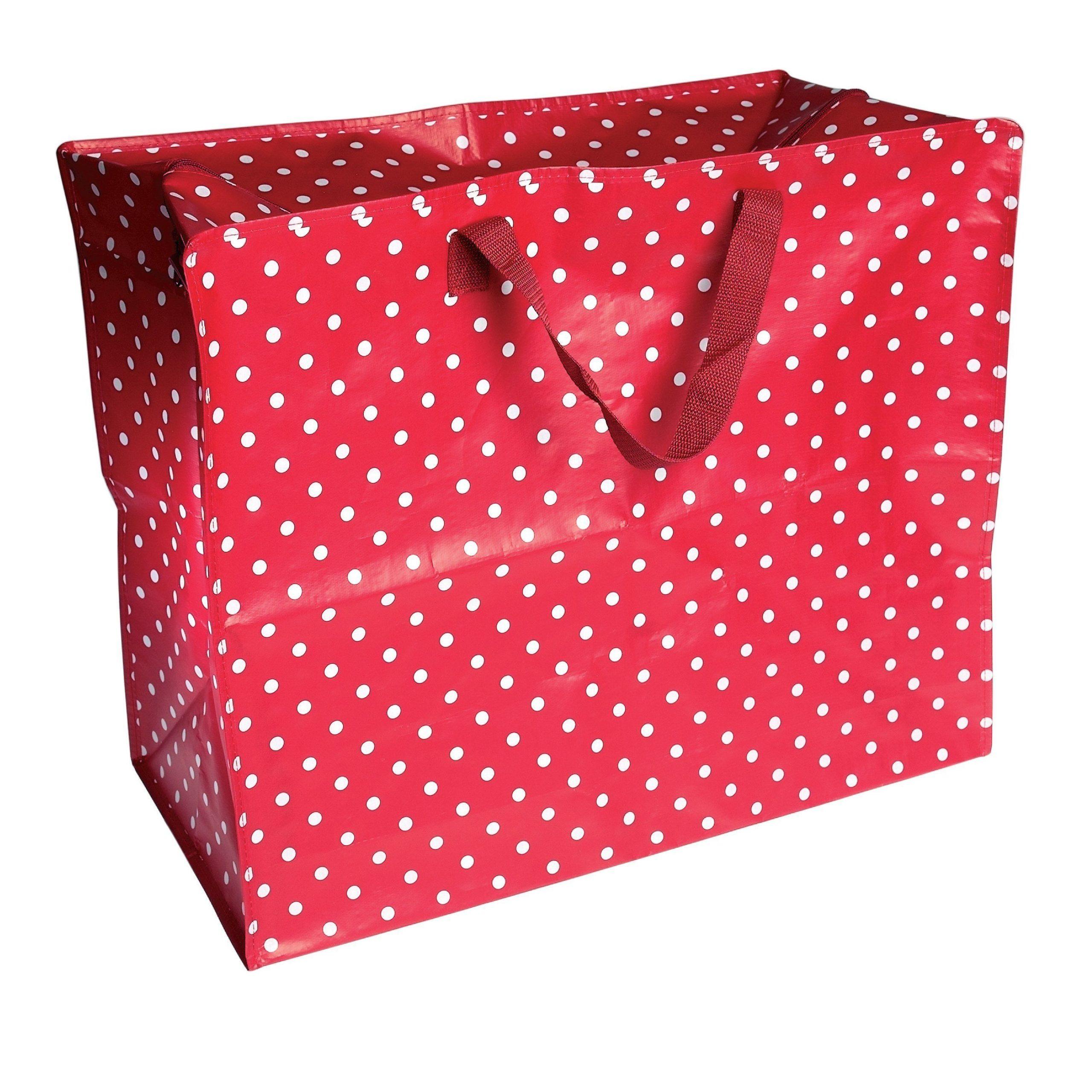 laundry-bags-red-retro-spot-design-jumbo-storage-bag