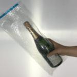 Champagne Bottle Bubble Wrap Bags - 180 x 435mm + Self seal lip - 10 pk